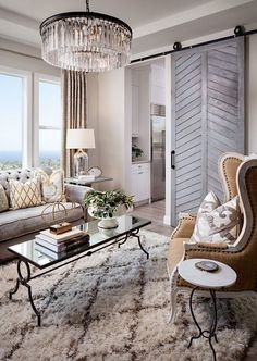 This living room is all about elegance and personality!