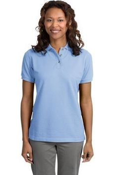 Port Authority Ladies Pique Sport Shirt (L420) Available in 24 Colors X-Large Light Blue Port Authority. $21.33
