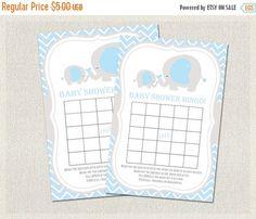 ON SALE Baby Shower BINGO Cards Boys Light Blue by PixieBabyShower