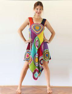 Long Gypsy Circle Skirt por subrosa123 en Etsy
