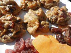 Madame Labriski - Ces galettes dont tout le monde parle - : La Gonglée à bloc (galette pleine de fruits séchés... Biscuits, Finger Foods, Deserts, Appetizers, Snacks, Cookies, Meat, Vegetables, Ethnic Recipes
