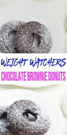 Weight Watchers Brownies, Weight Watchers Muffins, Weight Watchers Desserts, Chocolate Donuts, Chocolate Brownies, Donut Recipes, Ww Recipes, Ww Desserts, Delicious Donuts