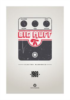 """Tribute to a classic guitar pedal with a hilarious name The """"Big Muff Pi"""" grab a poster of it from here(more coming soon) Guitar Art, Music Guitar, Pink Floyd Art, Guitar Posters, Black Jesus, Minions, Epic Art, Design Research, Guitar Pedals"""