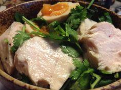 パクチー鶏玉丼 Turkey, Meat, Chicken, Kitchen, Food, Cuisine, Kitchens, Meals, Stove