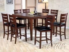 247Shopathome Kendall Dark Cherry Finish Counter Height 9Piece Enchanting Kendall Dining Room Design Decoration
