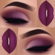 Eyeshadow: Morphe Brushes Palette Glitter: opv lashes pressed glitter Lips: Anastasia Beverlyhills Vintage Liquid Lipstick women beauty and make up Cute Makeup, Gorgeous Makeup, Pretty Makeup, Flawless Makeup, Unique Makeup, Cheap Makeup, Gorgeous Eyes, Purple Makeup Looks, Mac Makeup Looks