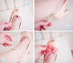 Put a flower in your heels DIY!