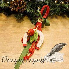 Εντυπωσιακό κρεμαστό κεραμικό πέταλο με κόκκινα ρόδια Christmas Home, Christmas Gifts, Christmas Ornaments, Lucky Charm, Holiday Decor, Handmade, Home Decor, Xmas Gifts, Christmas Presents