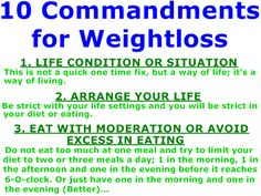 10 Commandments for Weight Loss - How to Lose Weight: http://www.facefinal.com/2014/03/10-commandments-for-weight-loss.html