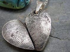 Thumb print necklace