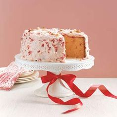Cherry Pound Cake.  Here's a rich classic pound cake with the pretty surprise of bright red cherries tucked inside and dotting the creamy icing.