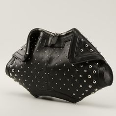 NEW!! Alexander McQueen De Manta Studded Clutch Authentic, leather with silver studs. New Alexander McQueen Bags Clutches & Wristlets