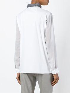 Fabiana Filippi рубашка с воротником из перьев