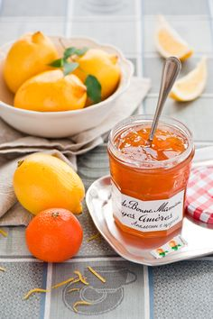 Orange jam (c) cookingpleasure Chutneys, Jam Recipes, Canning Recipes, Orange Jam, Fruit Preserves, Jam And Jelly, Meals In A Jar, Fruits And Veggies, Citrus Fruits