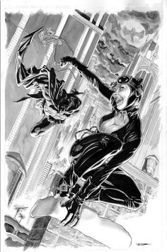 Catwoman and Batman by Tony Parker *