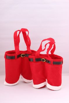 Dealzip Inc Newest Santa Claus Pants Gift And Treat Bags Christmas Candy Bag Xmas Party Decoration-Set of 2 -- Stop everything and read more details here! : Wrapping Ideas