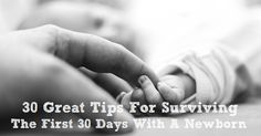 30 great tips for surviving the first 30 days with your newborn child. Baby Corner, Kids Corner, Newborn Twins, Newborn Care, One Month Baby, After Baby, First Time Moms, New Parents, Speech And Language