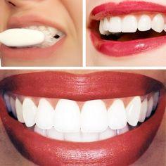 Clareador de dentes - receita do Dr. Oz: 1/4 xícara de bicarbanato de sódio e o suco de meio limão. Aplique com cotonete e deixe por 1 minuto antes de escovar para remover.