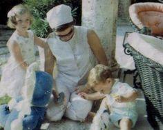 John Jr., Caroline and Jackie Kennedy