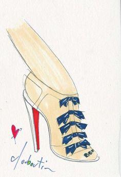 Christian Louboutin shoe sketch