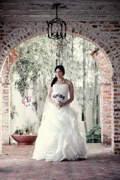 gorgeous bridal portrait at Casa Feliz, photo by K Photography