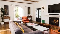 After three years of looking, Downs and Lucia renovated and decorated the Spanish-style home all by themselves Spanish Style Homes, Spanish Colonial, Mediterranean Home Decor, Expensive Houses, House Rooms, Living Rooms, Living Spaces, Architectural Digest, Beach House Decor