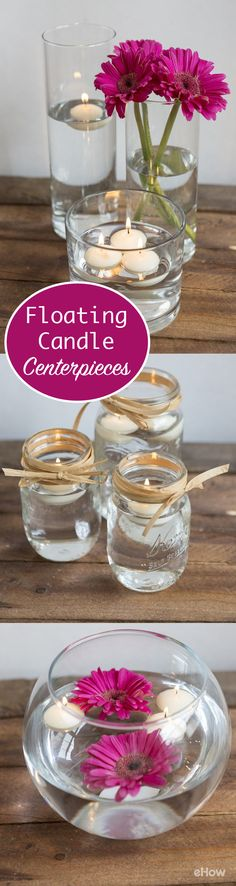 Floating candle centerpieces are perfect for serene settings and look great as centerpieces for weddings, birthdays, and showers. Decorate them in so many ways to match your venue and party decor!