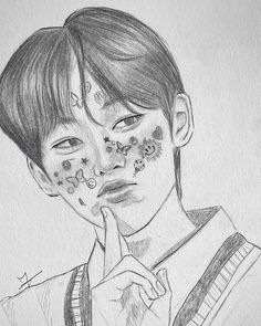 Kpop Drawings, Bts Love Yourself, Bts Taehyung, Art Sketches, Drawing Ideas, Art Reference, Projects To Try, Fanart, Thoughts