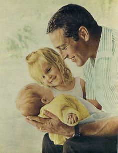 Paul Newman with daughters, Clea and Lissy.
