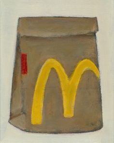 I'm Lovin' It, 8x10, Acrylic and Charcoal Pencil on Canvas 2017 Gabe Langholtz