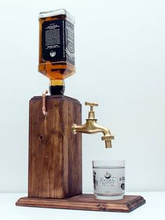 Handmade Wooden Alcohol Dispenser / Whiskey by SteamVintageWorks by kristy