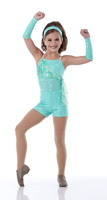 PARFAIT Shorts Jazz Tap Dance Costume w/ Mitts 4in1 Sequin CXS,2XL MADE IN