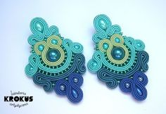 Green and blue soutache