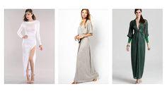 Maxivestido con mangas, vestidos de novia manga larga