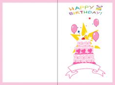 Say Happy Birthday with this fun card. Print out as many as you need and customize them too!
