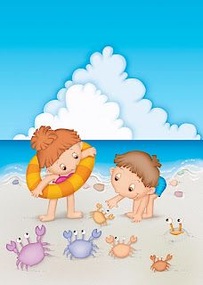 Children playing on a beach Drawing For Kids, Art For Kids, Animal Decor, Whimsical Art, Beach Art, Colouring Pages, Cute Illustration, Clipart, Cute Kids