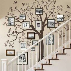 Staircase family Tree Wall Decal Tree Wall Decal Sticker Treppe-Familie Baum Aufkleber Baum Wand Aufkleber von SimpleShapes The post Staircase family Tree Wall Decal Tree Wall Decal Sticker appeared first on Fotowand ideen.