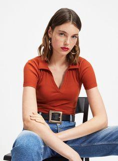 Rust V-Neck Collar Bodysuit - Bodysuits - Clothing - Miss Selfridge Mixed  Feelings 01c731e0c