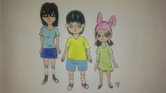 Just a piece I did for the fan art competition I did for my favorite show: Bob's Burgers.   Traditional Art made with Colored Pencils and a Black Ink Pen
