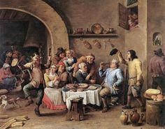 David Teniers (II) - Twelfth-night (The King Drinks)