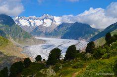 Aletschgletscher bei Bettmeralp  #Glacier #Gletscher #Alpen #Berge #Aletschgletscher #Schweiz #swiss #wandern #natur #backpacker