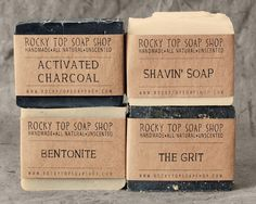 BACKORDERED- Manly Man Soap Set - Natural Soap - Handmade Soap - Unscented Soap - Vegan Soap - Mens Gift Set. $22.00, via Etsy.