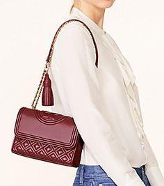 25f61a0a8 Bedrock Tory Burch Fleming Small Convertible Shoulder Bag Designer  Crossbody Bags, Designer Handbags, Quilted