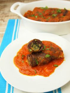 Kosher Braciole Rolled Steak Recipe with matzah meal stuffing for passover