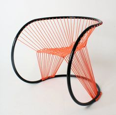 Neon Roped Seating - The Maya Chair by Arya Alfieri is Contemporarily Bright and Intricate (GALLERY)