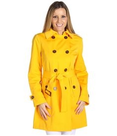 Just bought this yellow trench/raincoat, it has a detachable hood.  I'm in love!