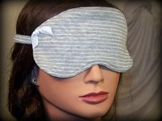 Sleep Mask DO NOT DISTURB gray pinstripeairplane train by tamilyn, $18.00