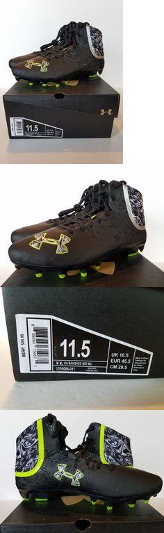 Footwear 159154: Under Armour Lacrosse Cleats New Mens Ua Banshee Mid Mc Black Free Socks -> BUY IT NOW ONLY: $49.5 on eBay!