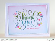 mama elephant | design blog: INTRODUCING: Thank You Wishes with flowers from Mini Messages.