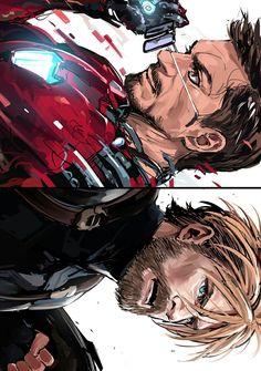 Avengers Infinity War || Captain America & Iron-Man || Steve Rogers / Tony Stark || Cr: 郁